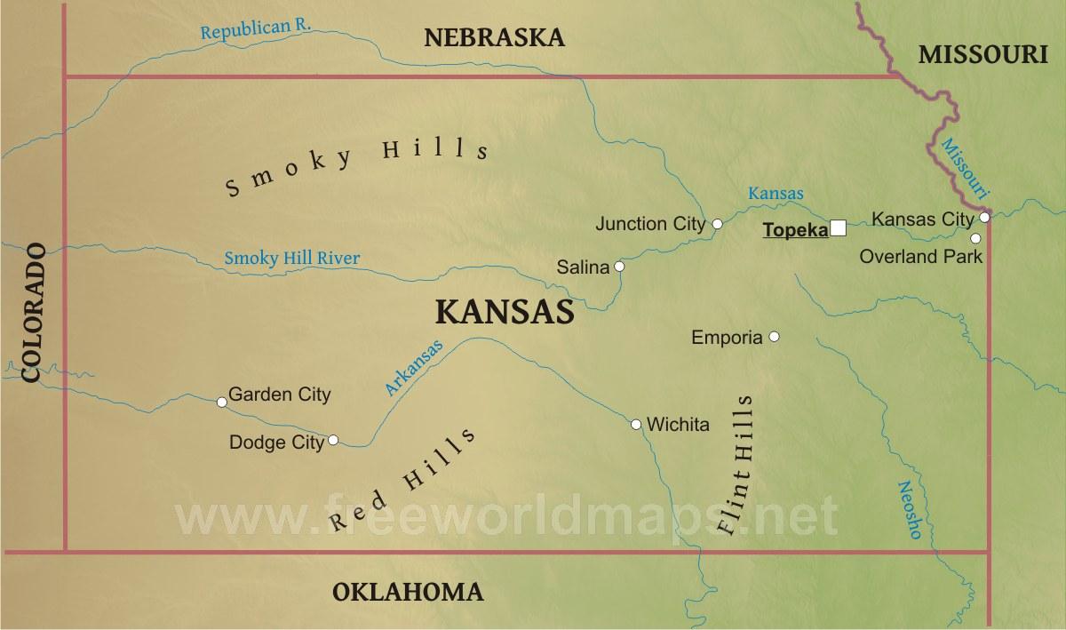 Kansas Map Fotolip Com Rich Image And Wallpaper