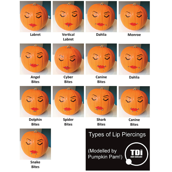 Lip Piercing Types