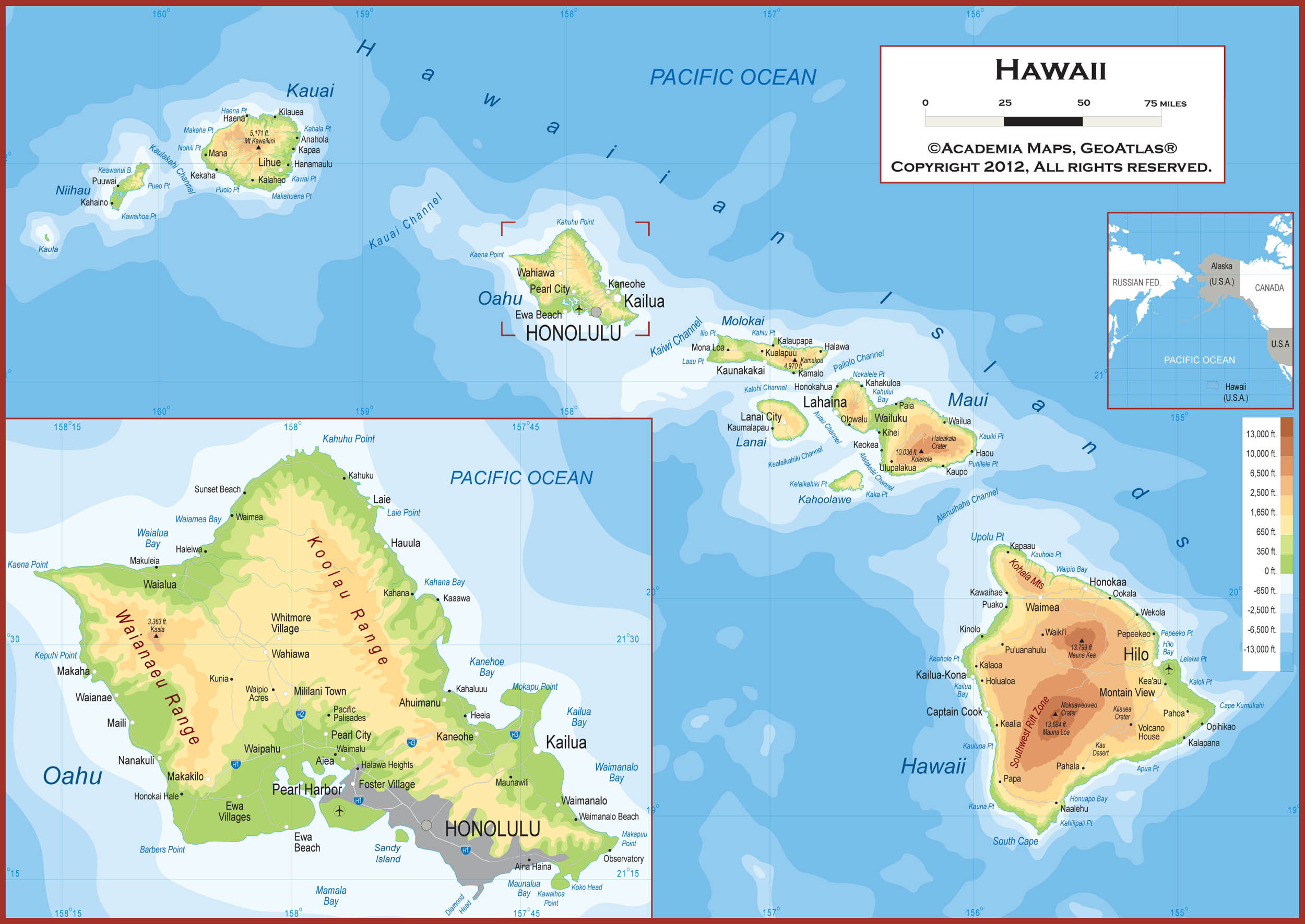 Map of Hawaii Large Color Map Rich image and wallpaper