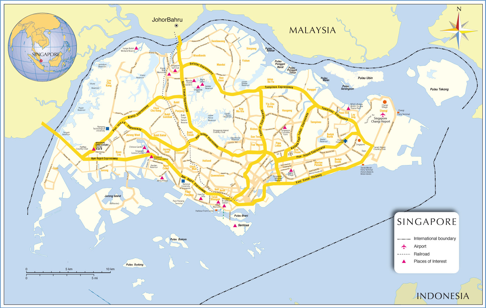 Map Of Singapore Fotolip