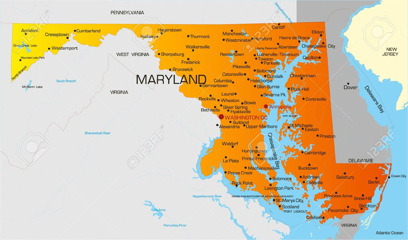 State Of Maryland Map Related Keywords Amp Suggestions