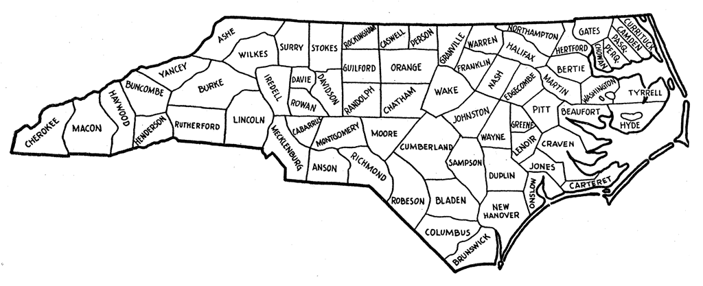 Breathtaking image regarding printable map of north carolina counties