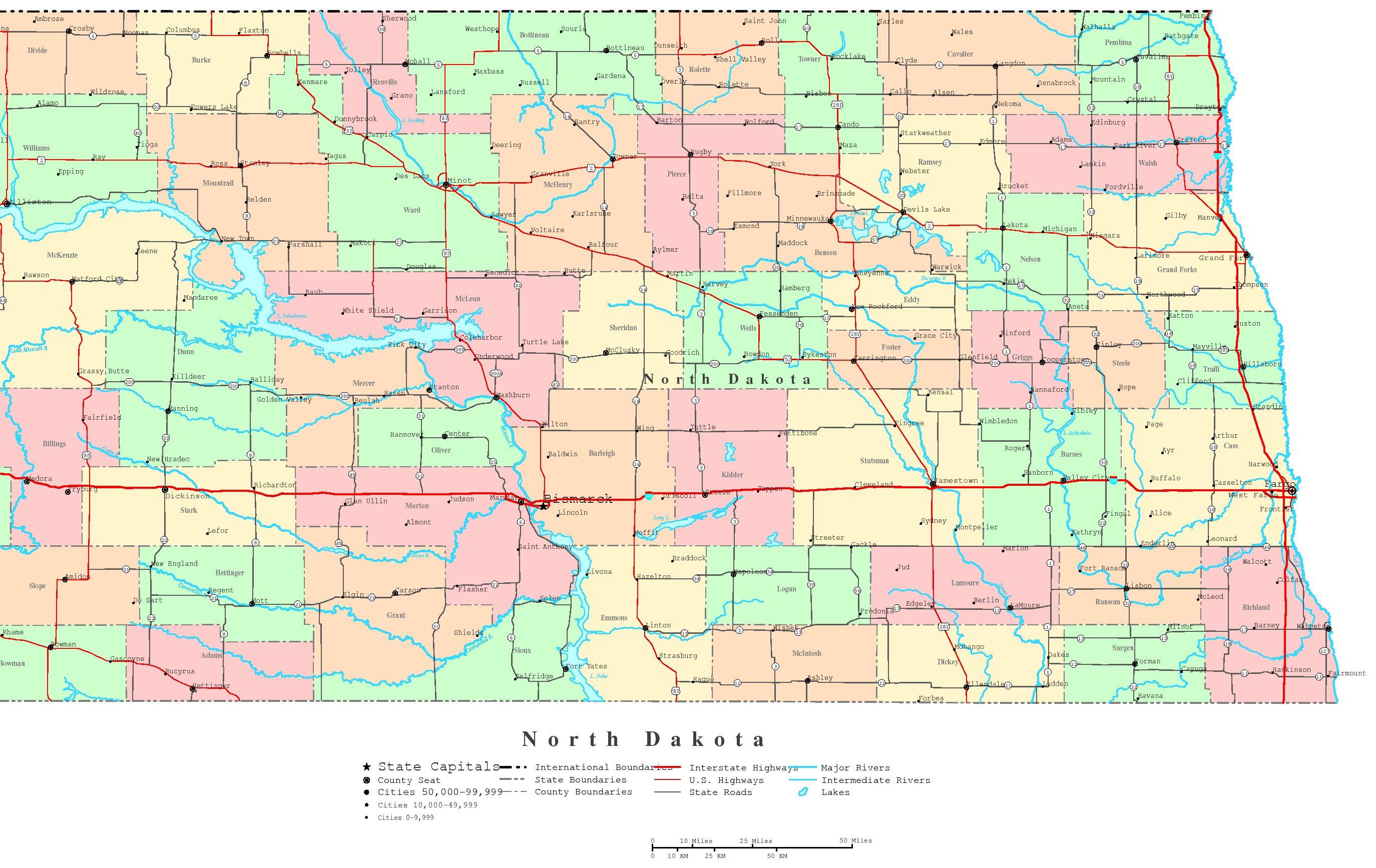 North Dacota Map