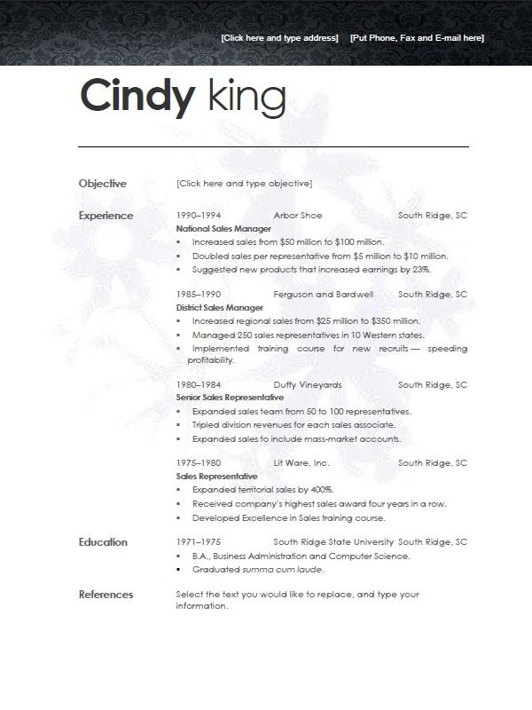 Open Office Resume Template Fotolip