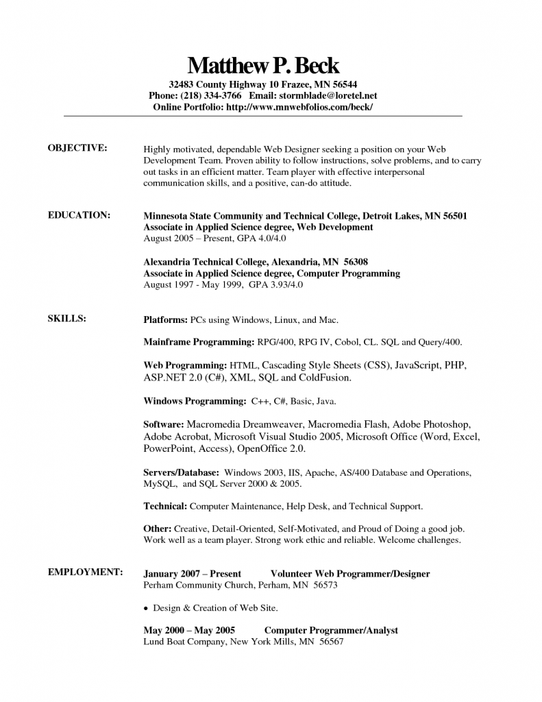 Open Office Resume Template Fotolip