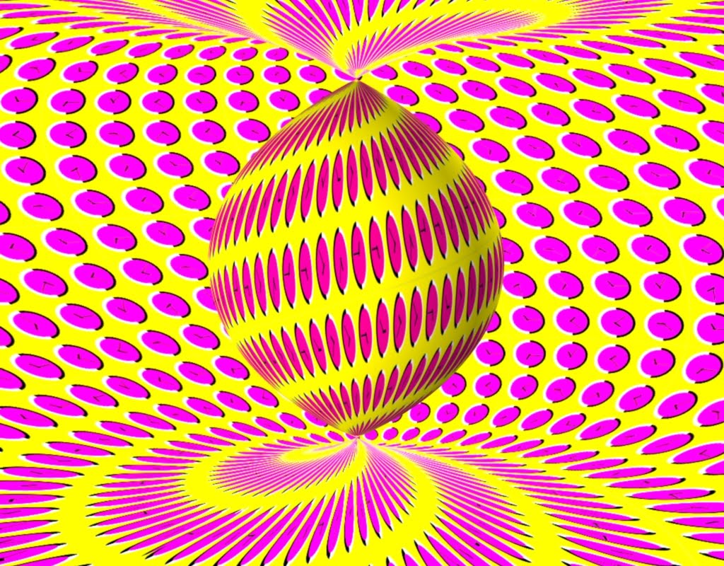 optical illusions illusion 3d moving eye background trick spinning hd twist clock desktop screensaver mind souray dj op teasers fotolip