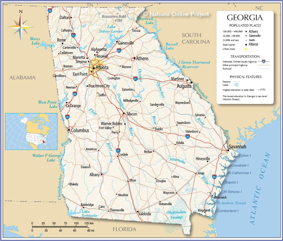 Political Map of Georgia