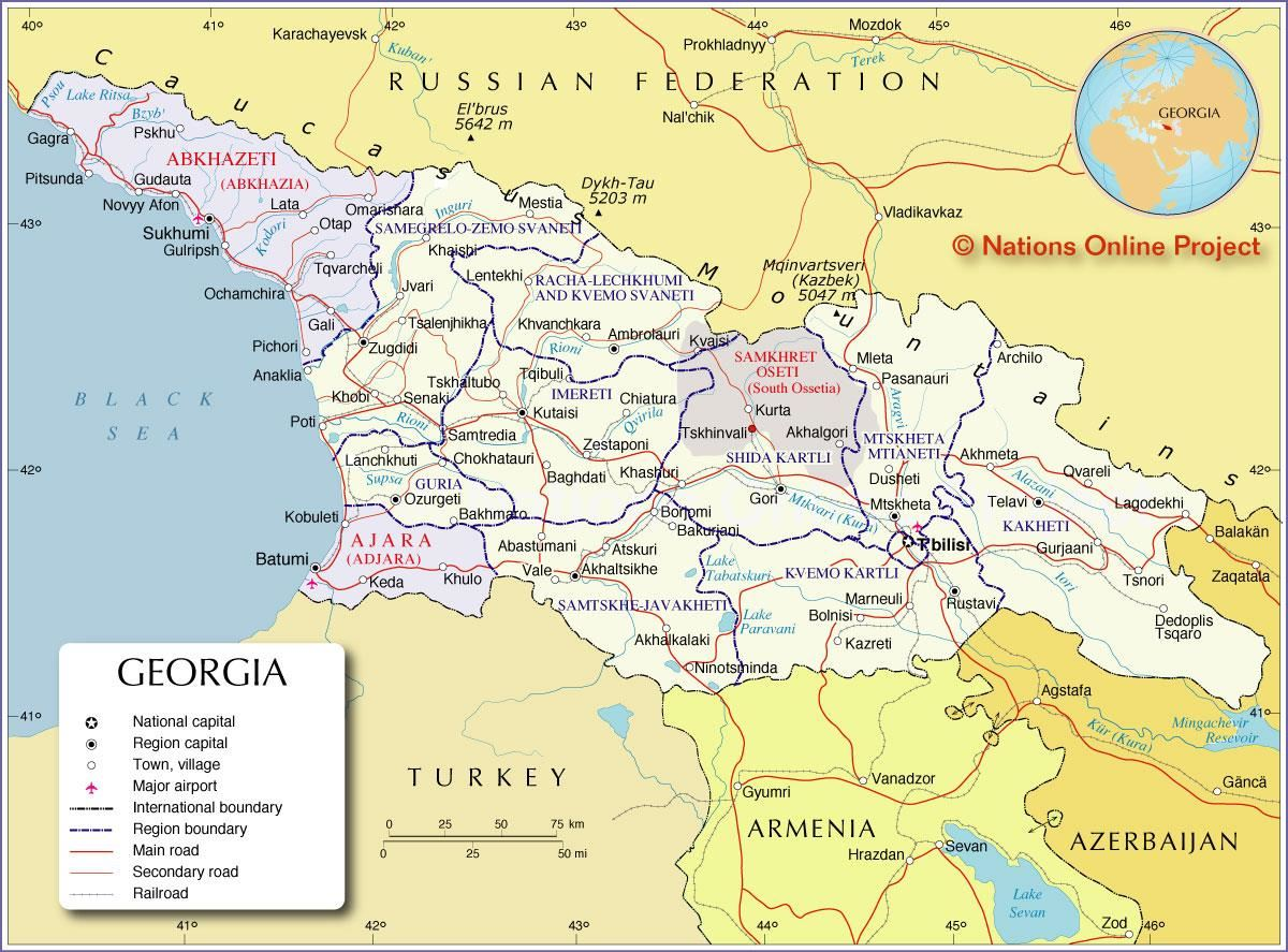 Political Map of Georgia