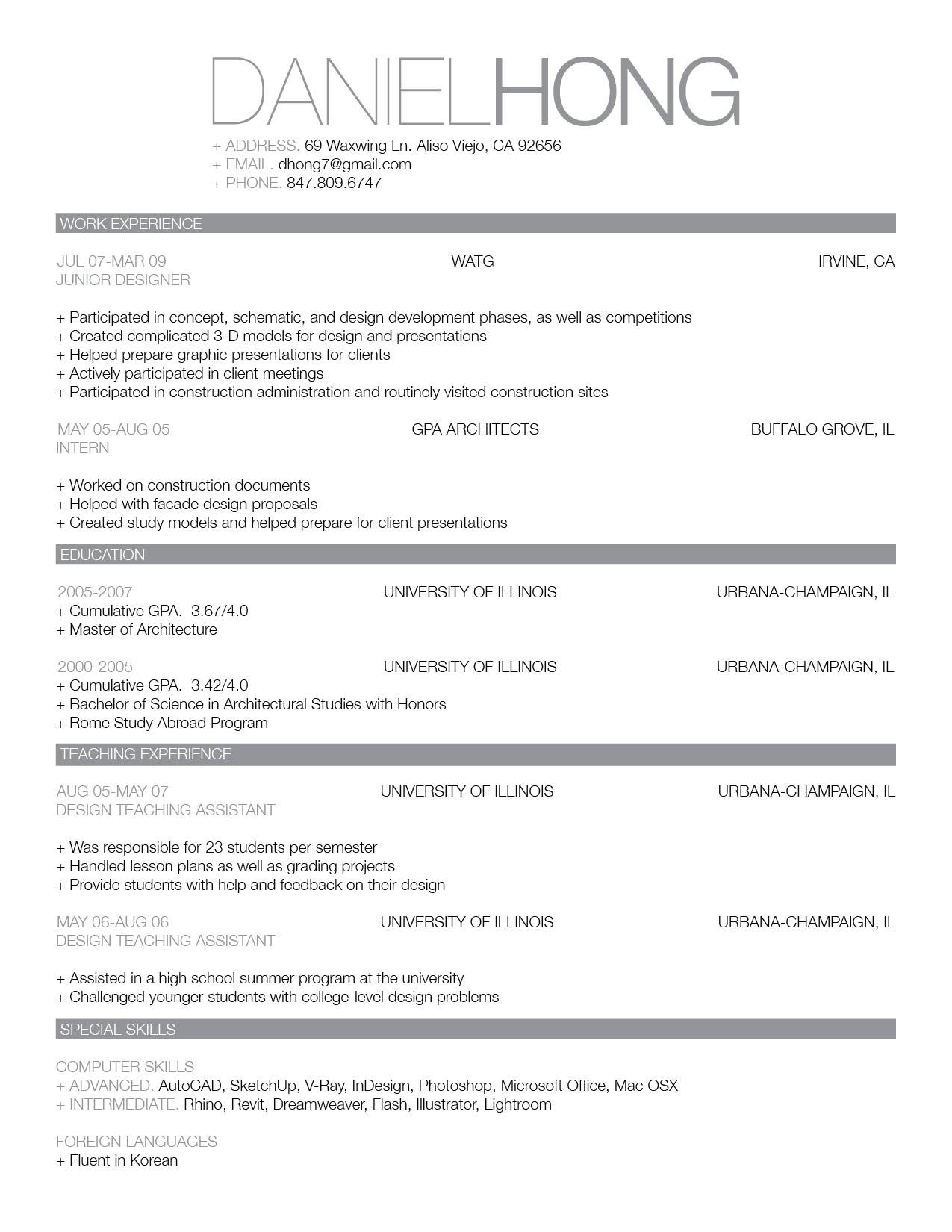 Professional Resume Template  What A Great Resume Looks Like