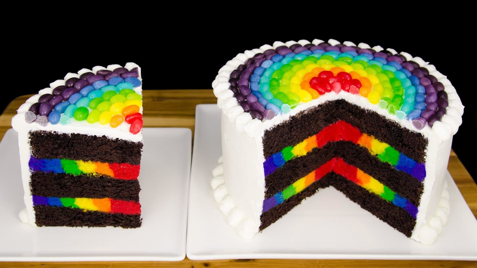 Rainbow Layered Cake Ms