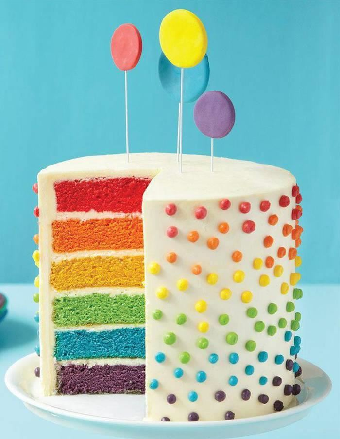 Rainbow Cake: How to Make a Rainbow Cake by Cookies Cupcakes