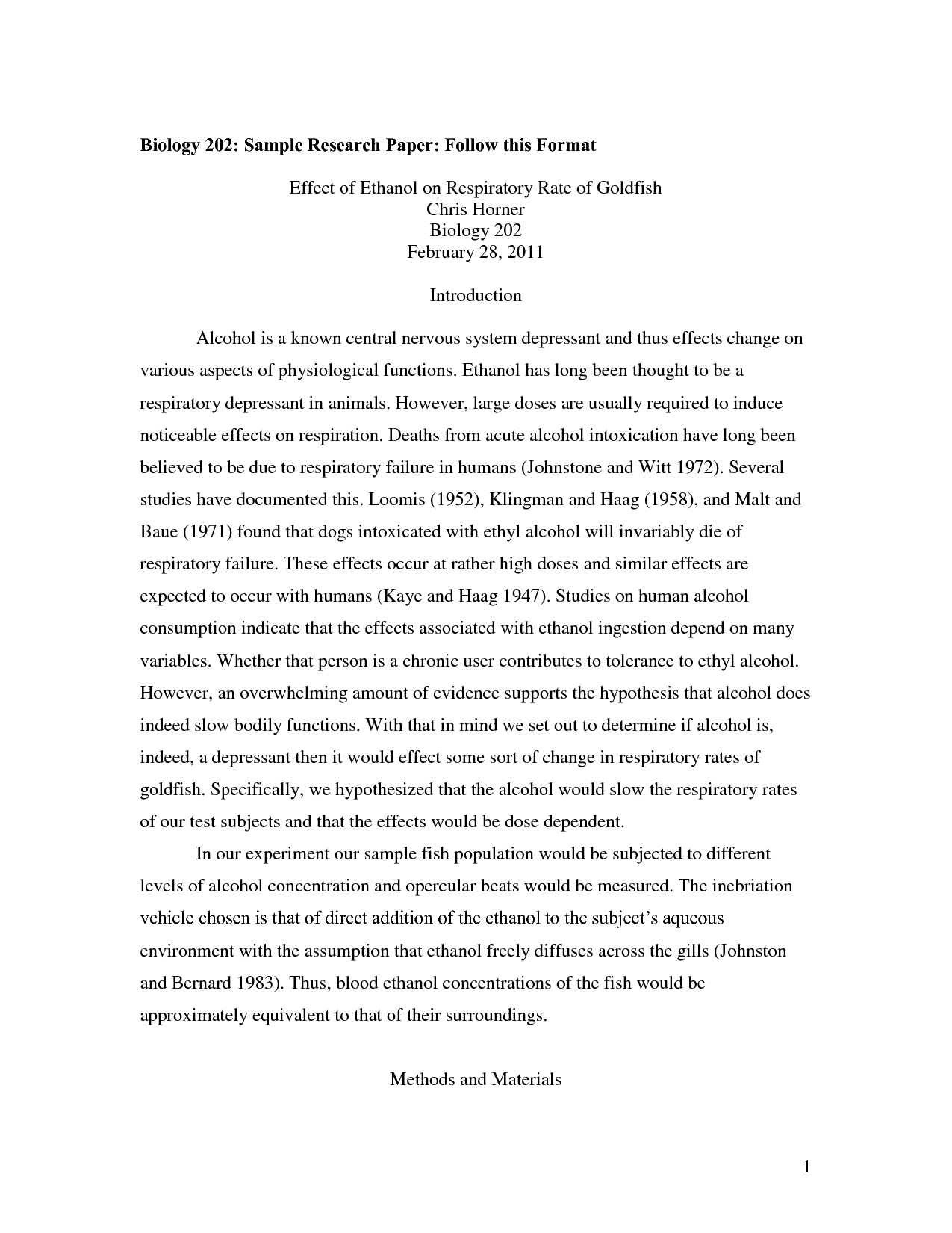 A thesis for a research paper
