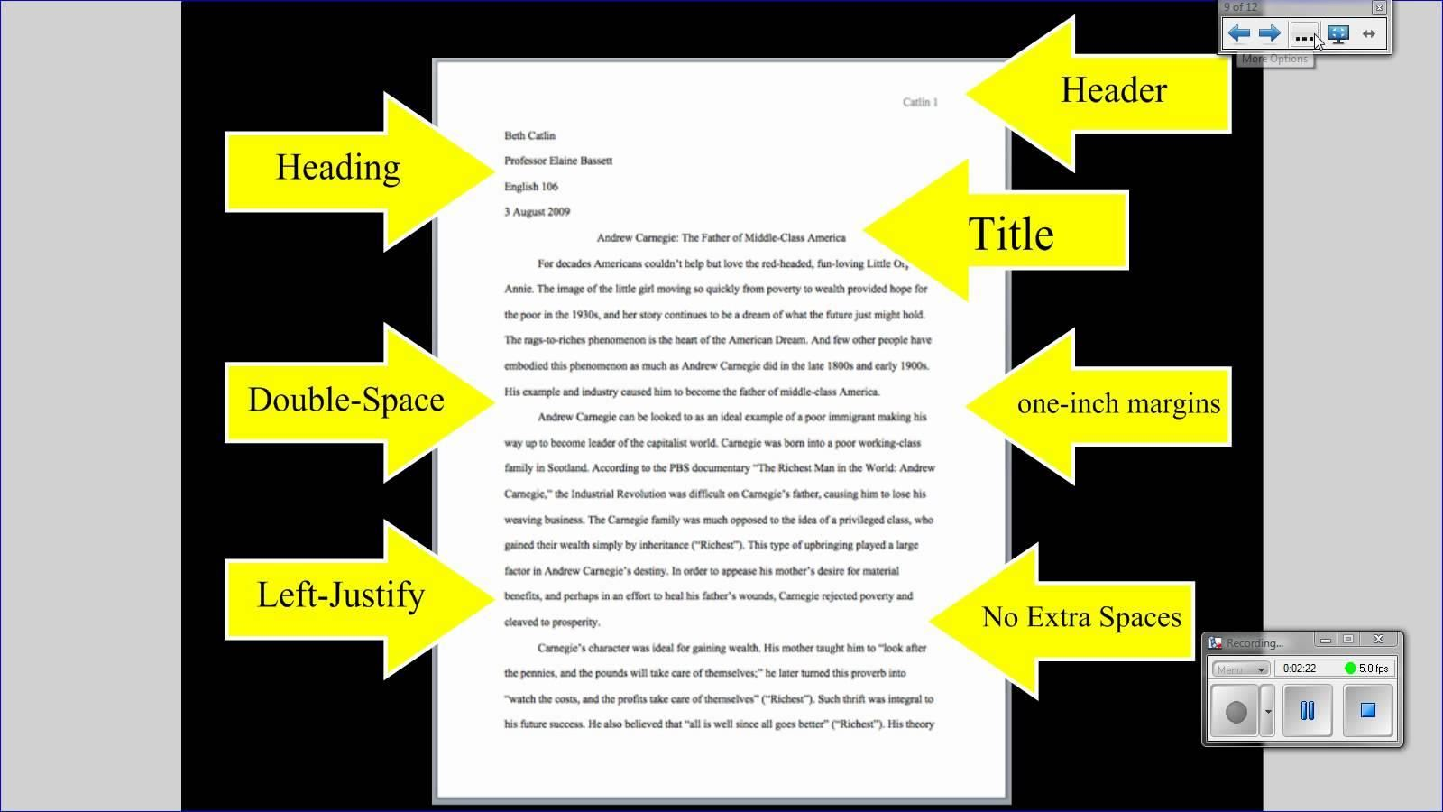 format of a formal research paper This sample follows the style guidelines in the mla handbook for writers of research papers, 7th ed (2009) sample outline for an mla paper (orlov) marginal annotations indicate mla-style formatting and effective writing.