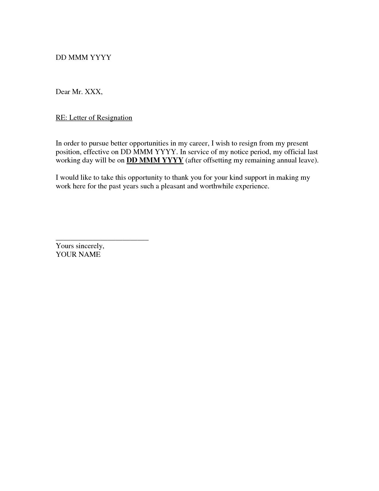 resignation letter template rich image and