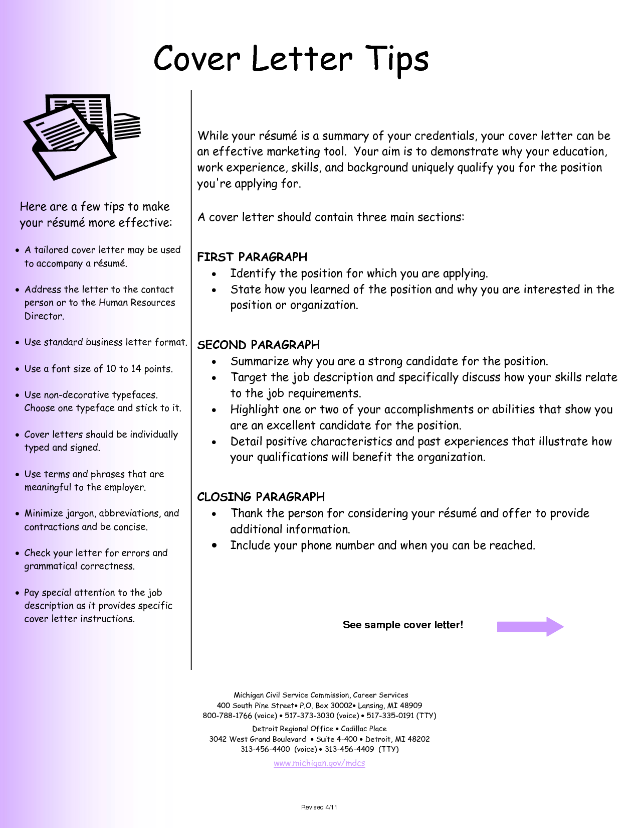 sample resume cover letter 2 crafting succint and well crafted