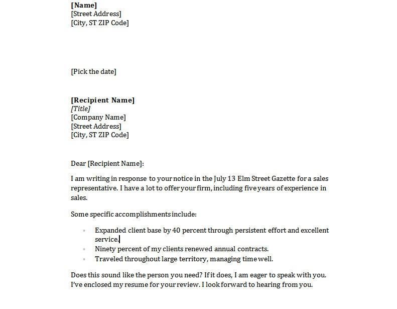 Resume Cover Letter Examples | Fotolip.Com Rich Image And Wallpaper
