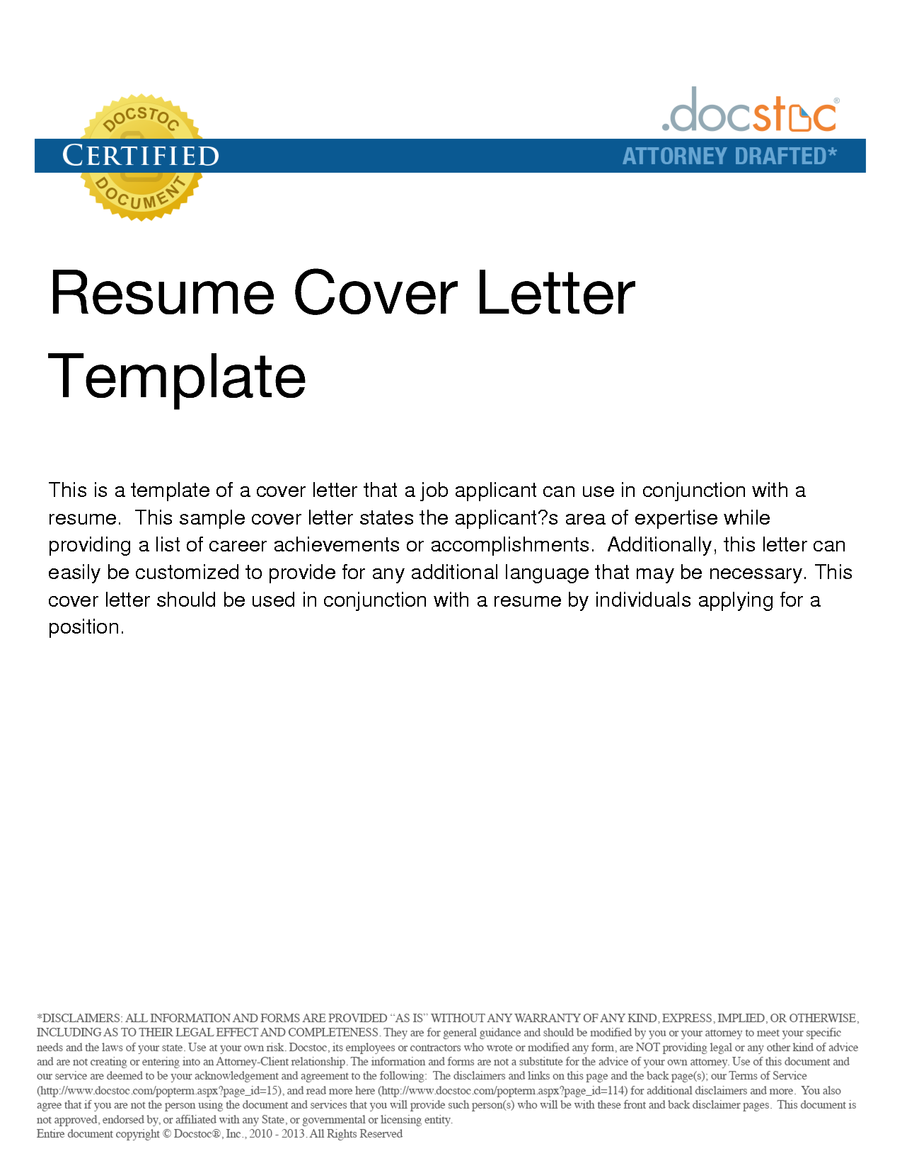what does a resume cover letter consist of