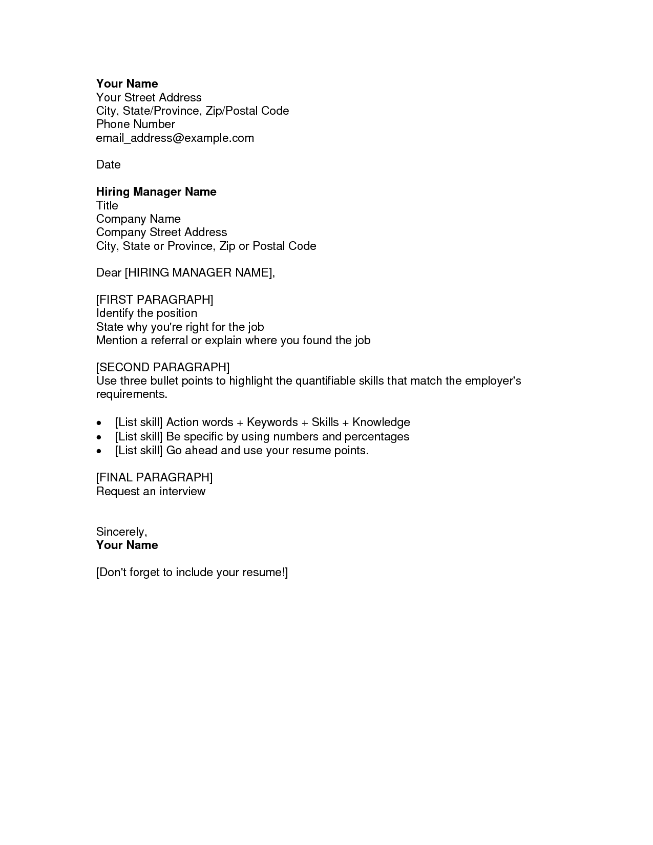 example of a resume cover letter resume cover letter examples fotolip rich image and 21565