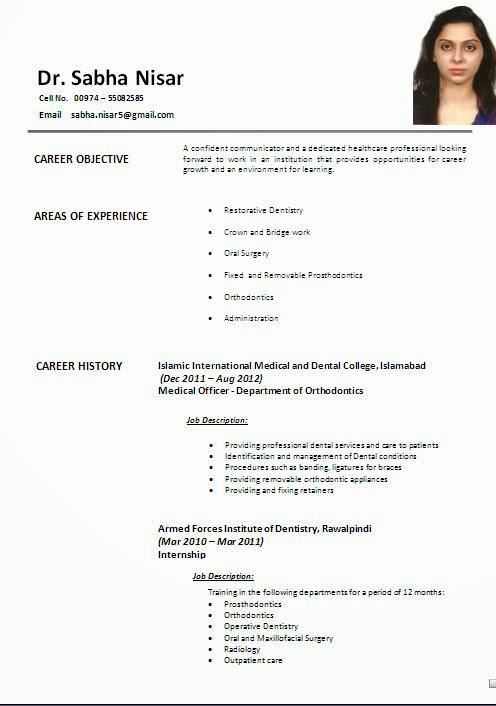 sample resume format for fresh graduates one page format 4 sample