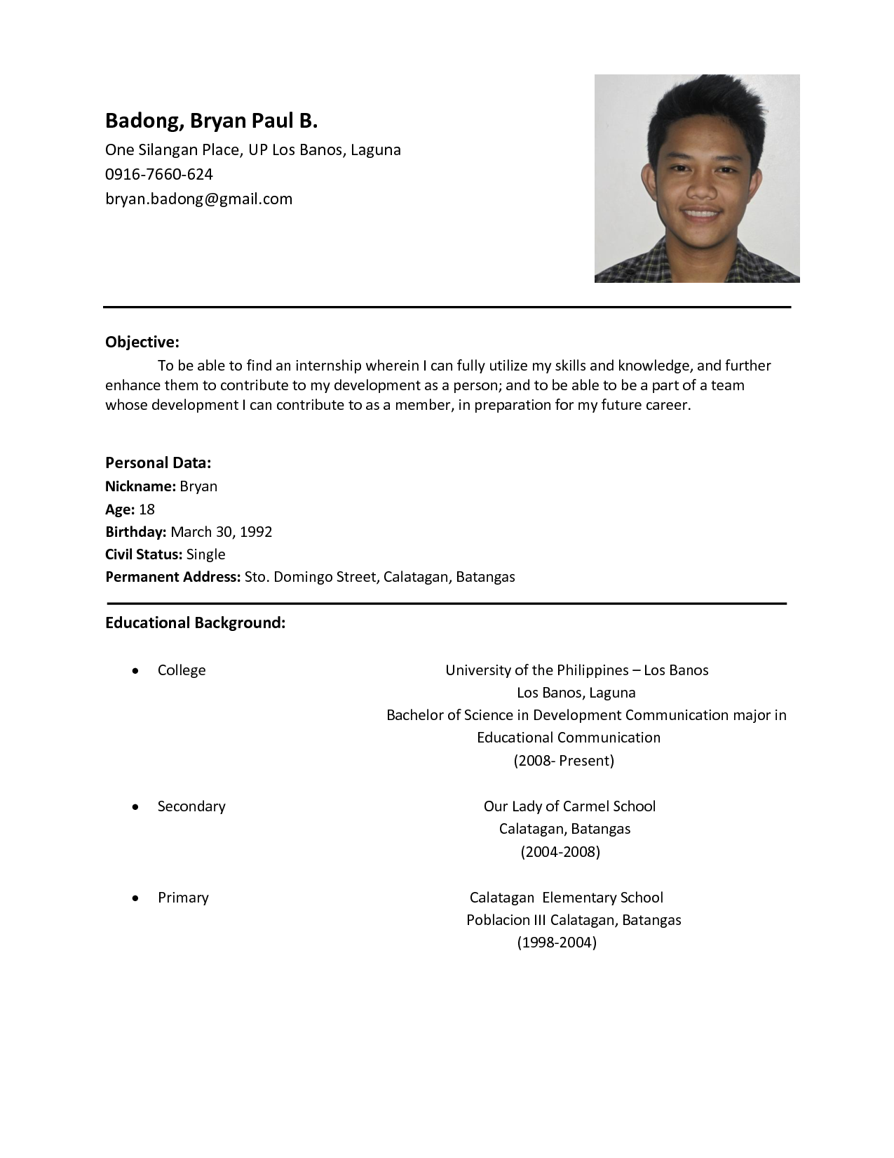 resume sample rich image and wallpaper