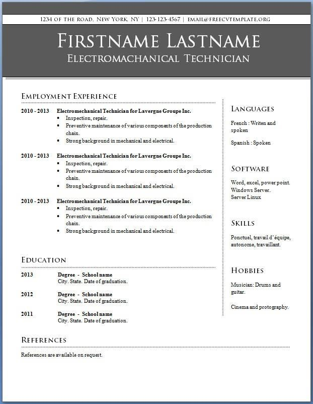 Sample Resume In Word | Resume Cv Cover Letter