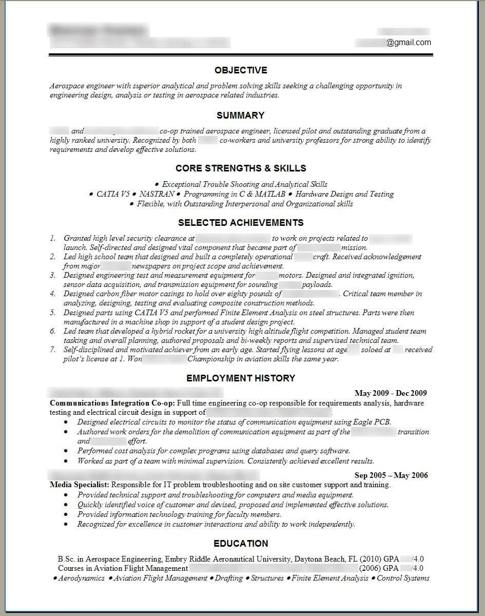 resume template word - Sample Resume Format Word