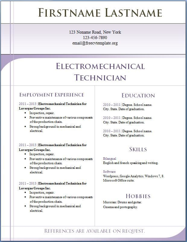 Free Resume Downloads In Word Format | Resume Format And Resume Maker