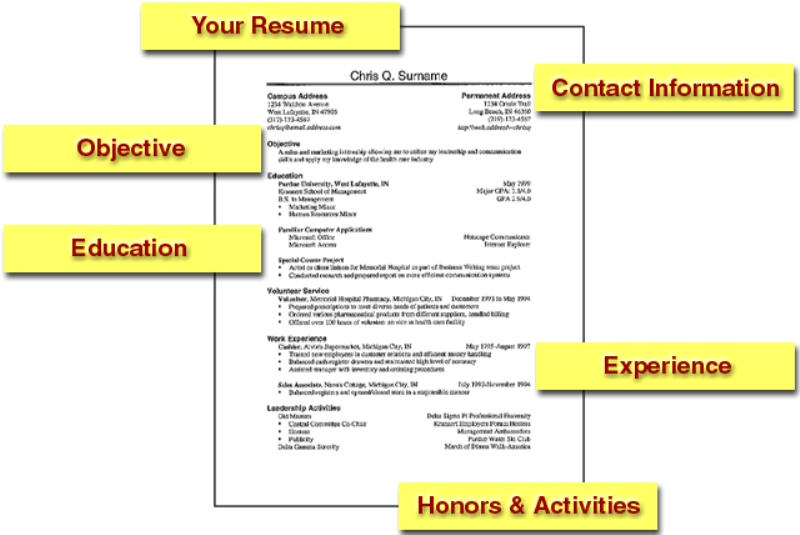 resume and job application tips - A Resume For A Job Application