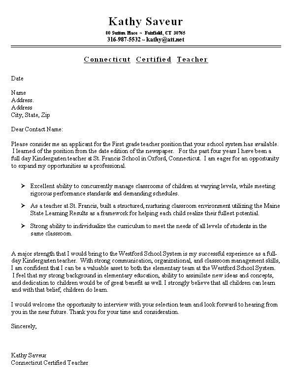 Sample Cover Letter For Resume - Fotolip