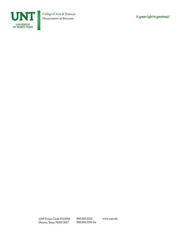 Sample Letterhead