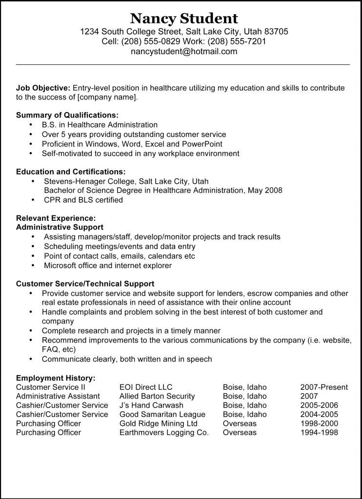 Basic-Sample-Example-Resume Basic Resume Example - 8+ Samples In