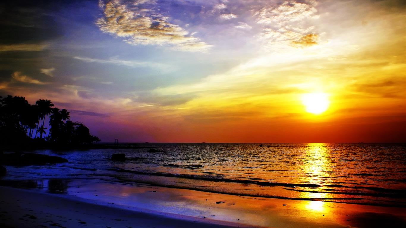 Sea Sundown Wallpaper Fotolip Com Rich Image And Wallpaper