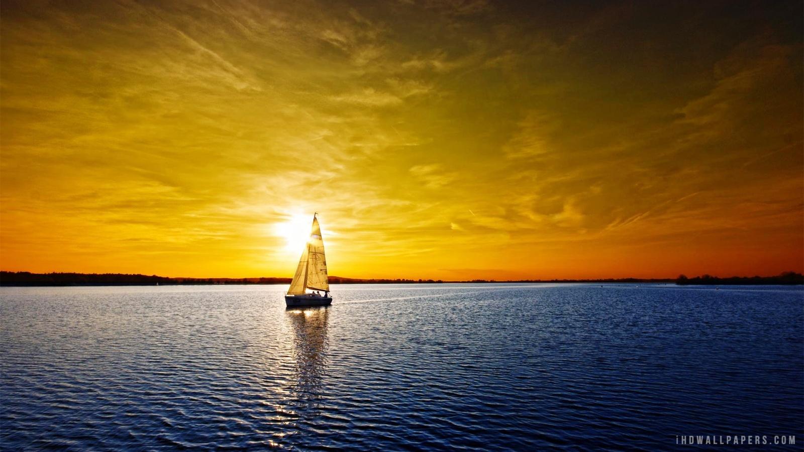 Sea Sundown Wallpaper