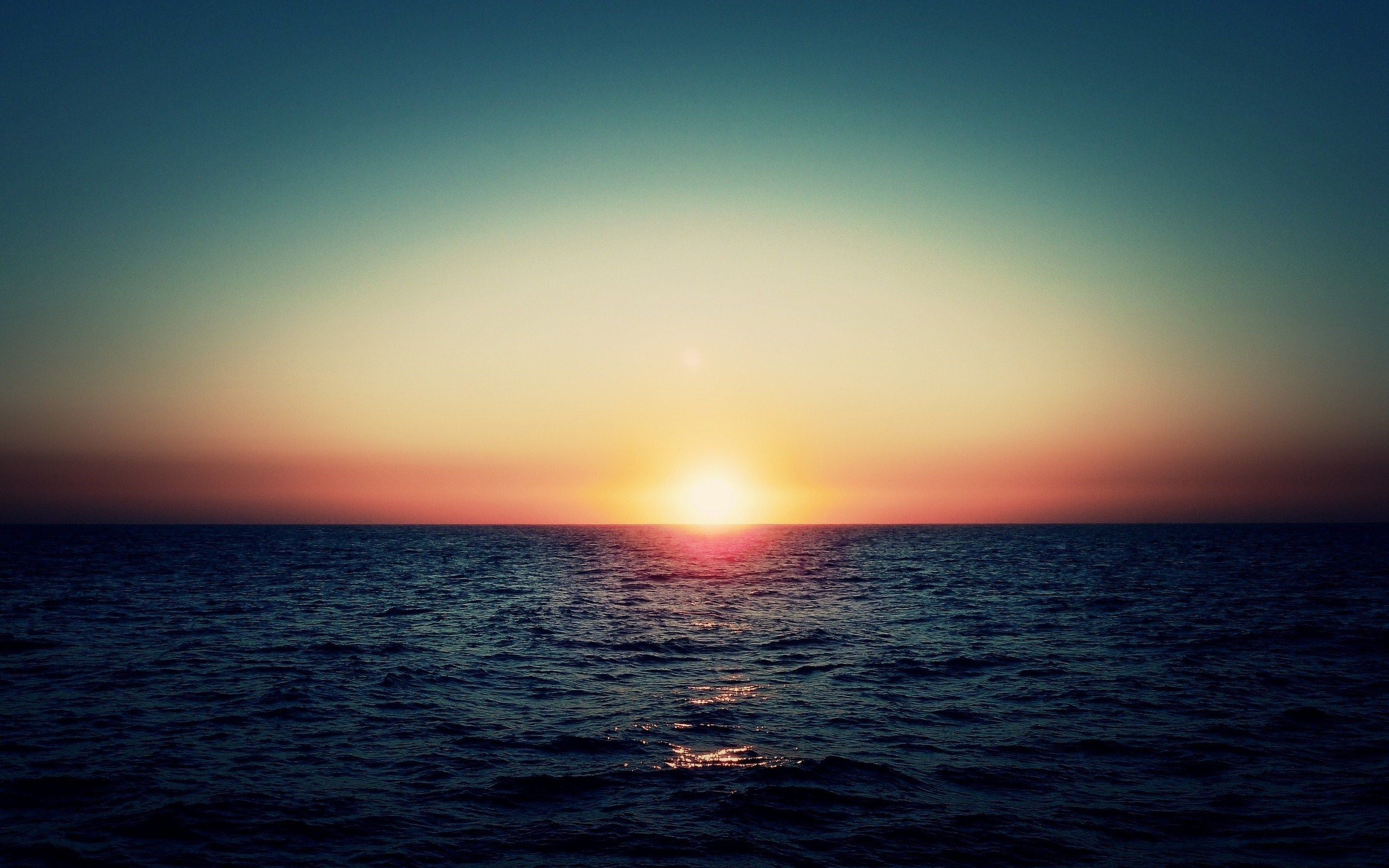 Sea Sundown Wallpaper