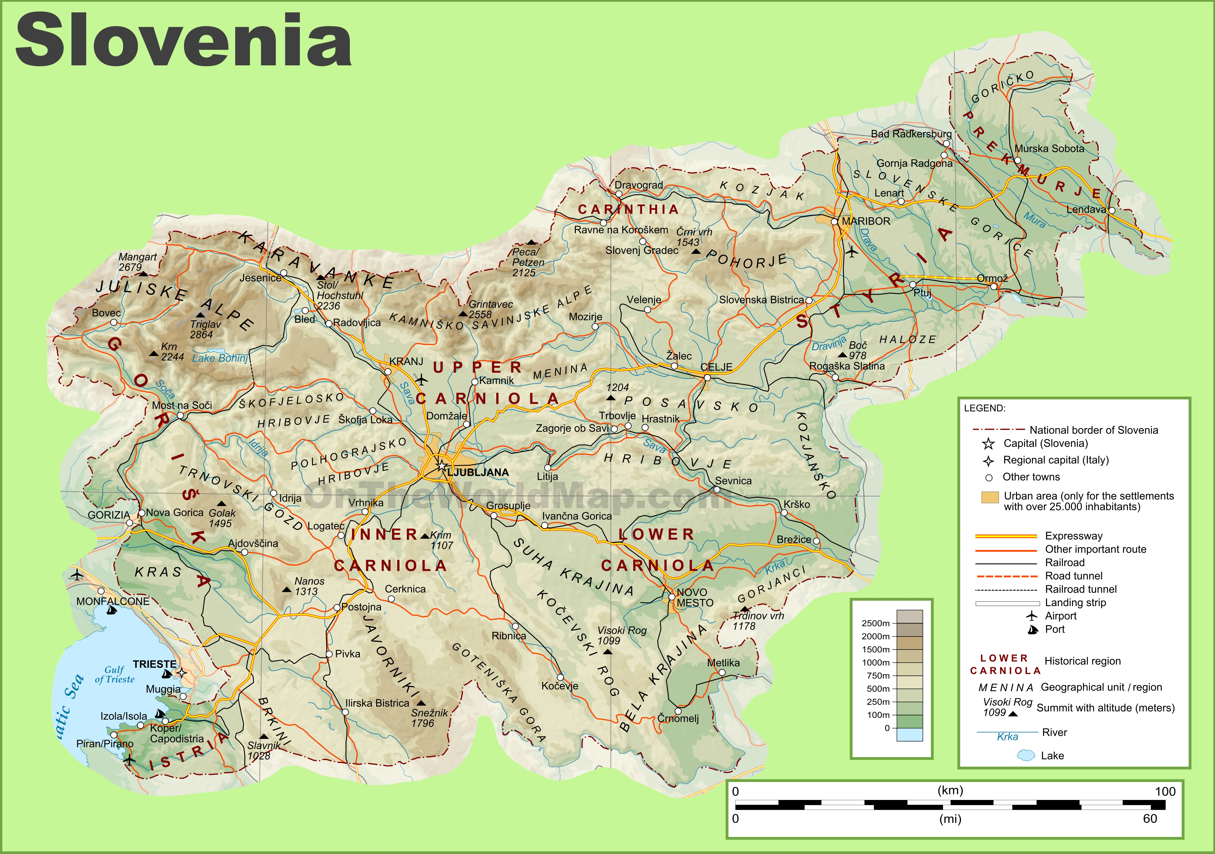 Slovenia Map Fotolip Com Rich Image And Wallpaper