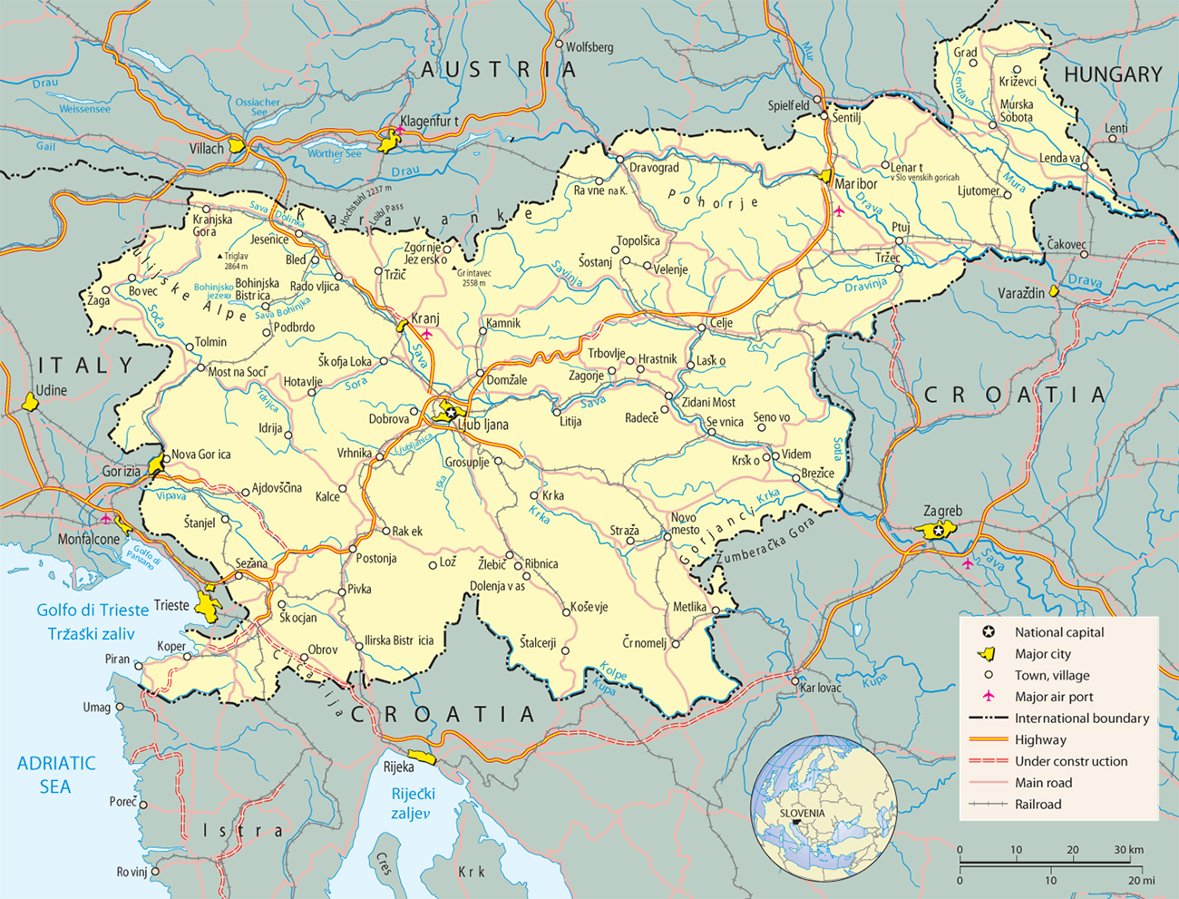 Slovenia Map Fotolip Com Rich Image And Wallpaper