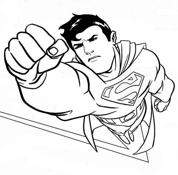 superman coloring pages rich image and wallpaper