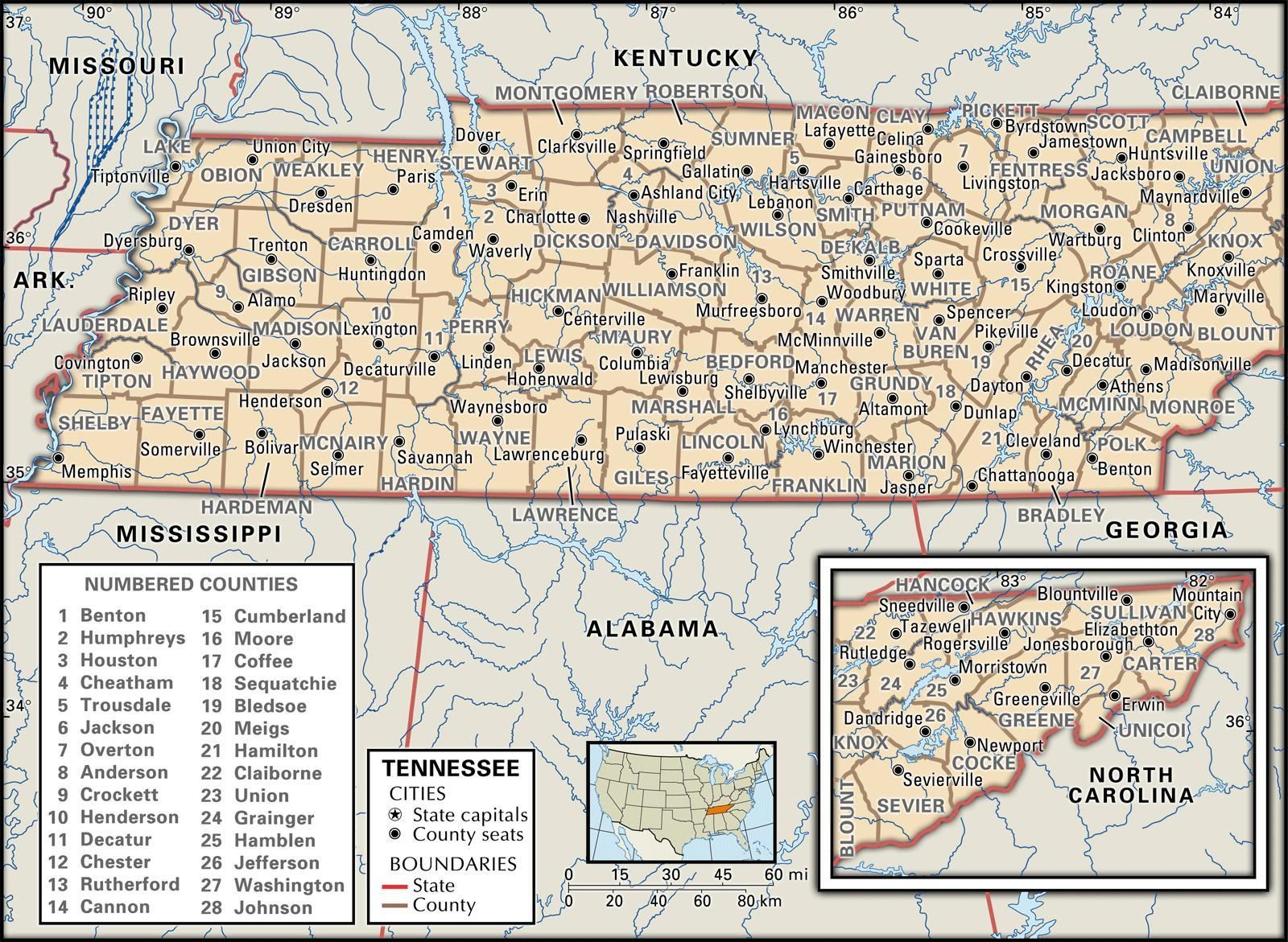 Tennesee Map