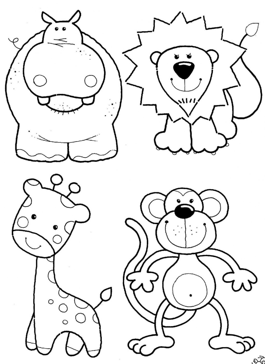 toddler coloring pages - Toddler Coloring Page