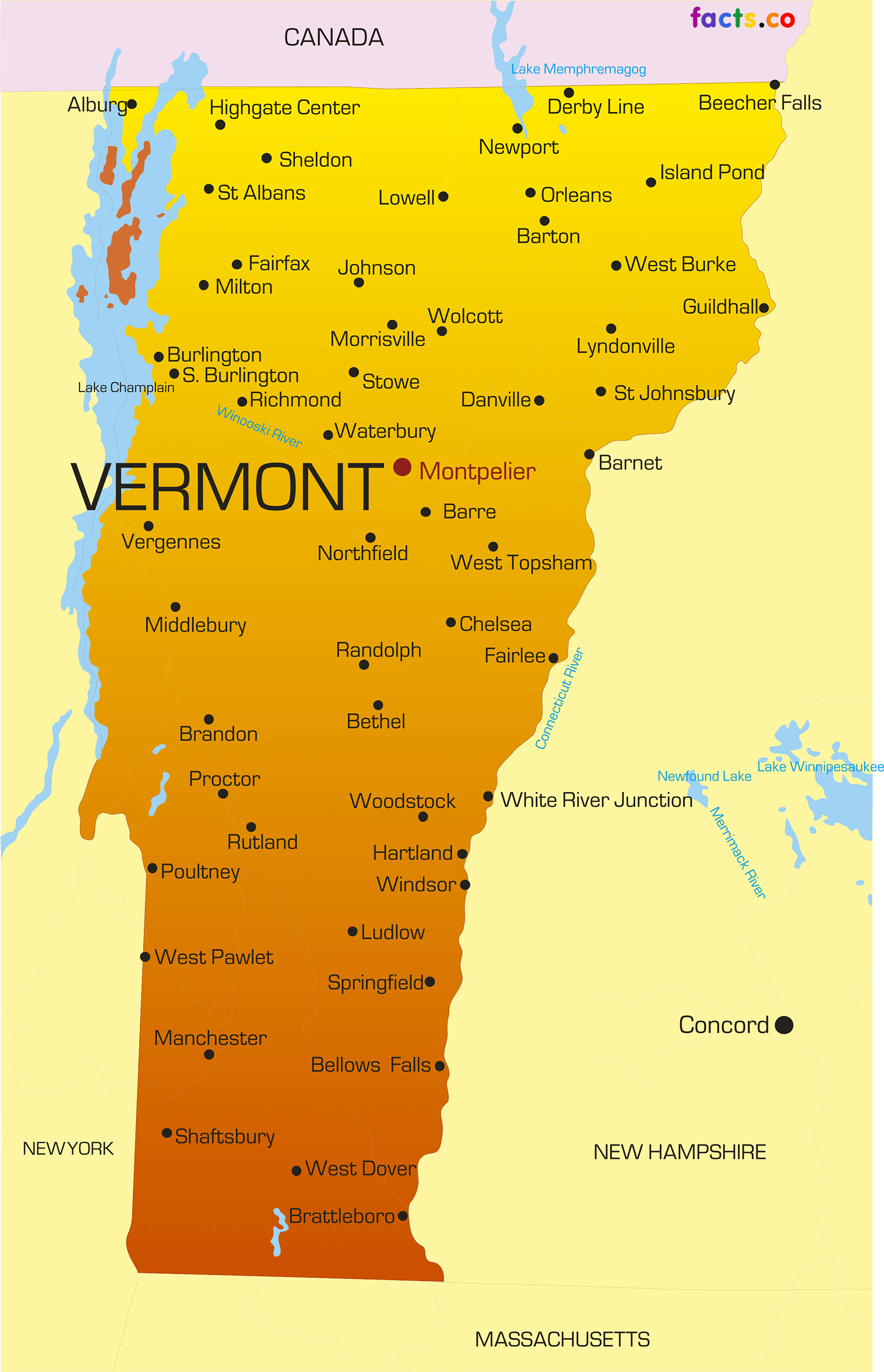 Vermont Map Fotolipcom Rich Image And Wallpaper - Vermont colleges map