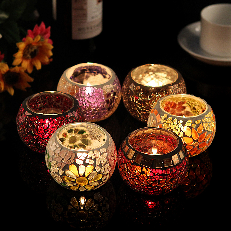 Aliexpresscom : Buy Hot sale! Glass mosaic lantern candle