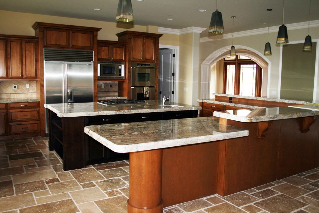 Amazing of Free American Style Villas Open Kitchen Design #2780