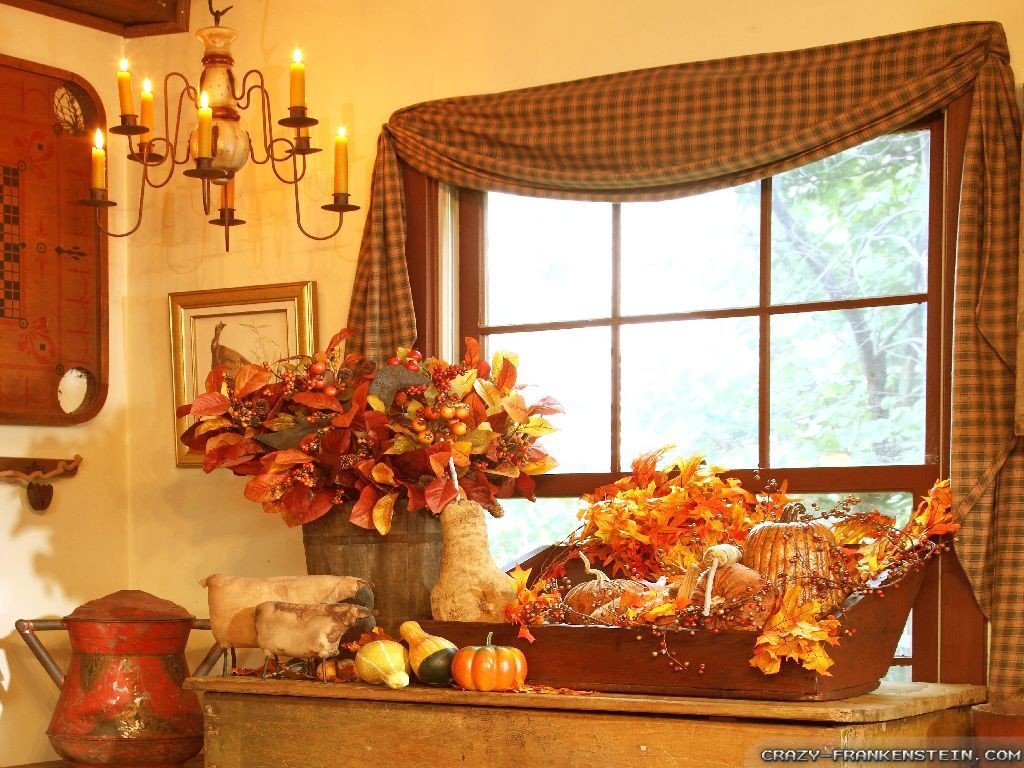 Autumn home decoration rich image and wallpaper for Seasonal decorations home