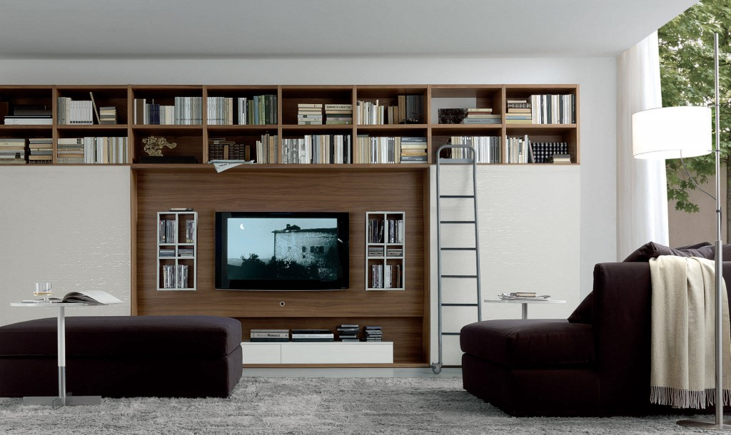 Contemporary TV wall unit - OPEN SYSTEM - JESSE