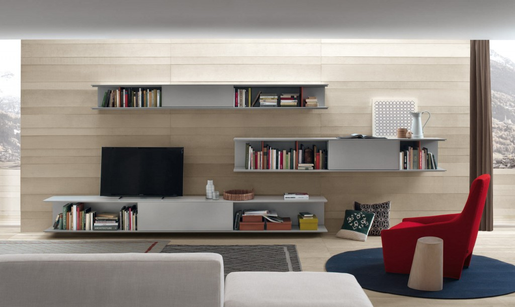 Contemporary TV wall unit / wood - ONLINE by Decoma Design