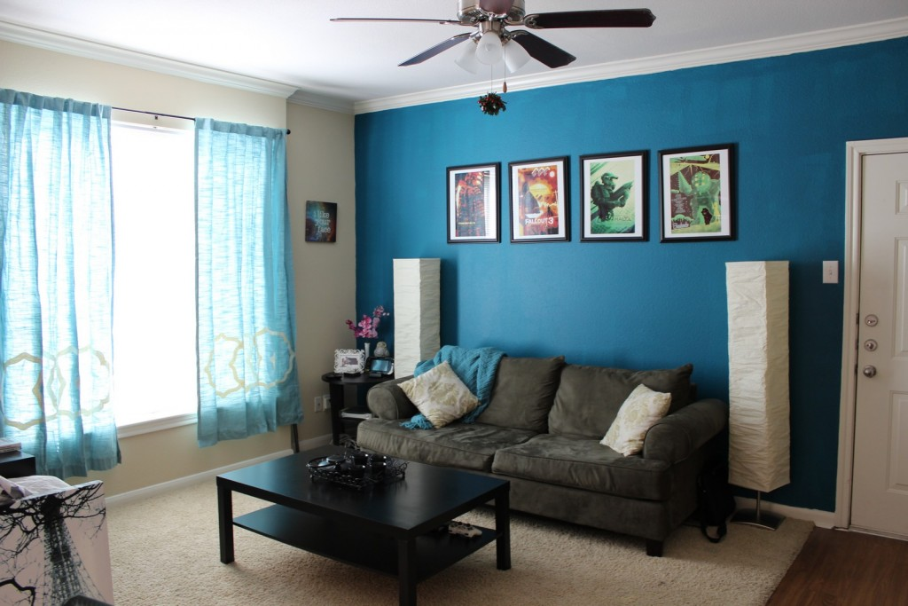 Living Room: Ceiling Fan With Light Installation For Small