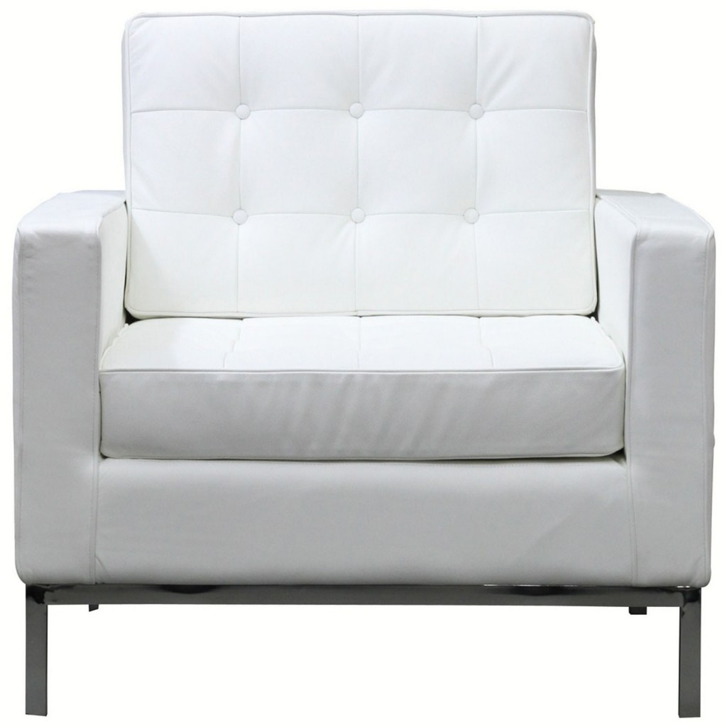 Modway Loft Leather Armchair in White - BEYOND Stores