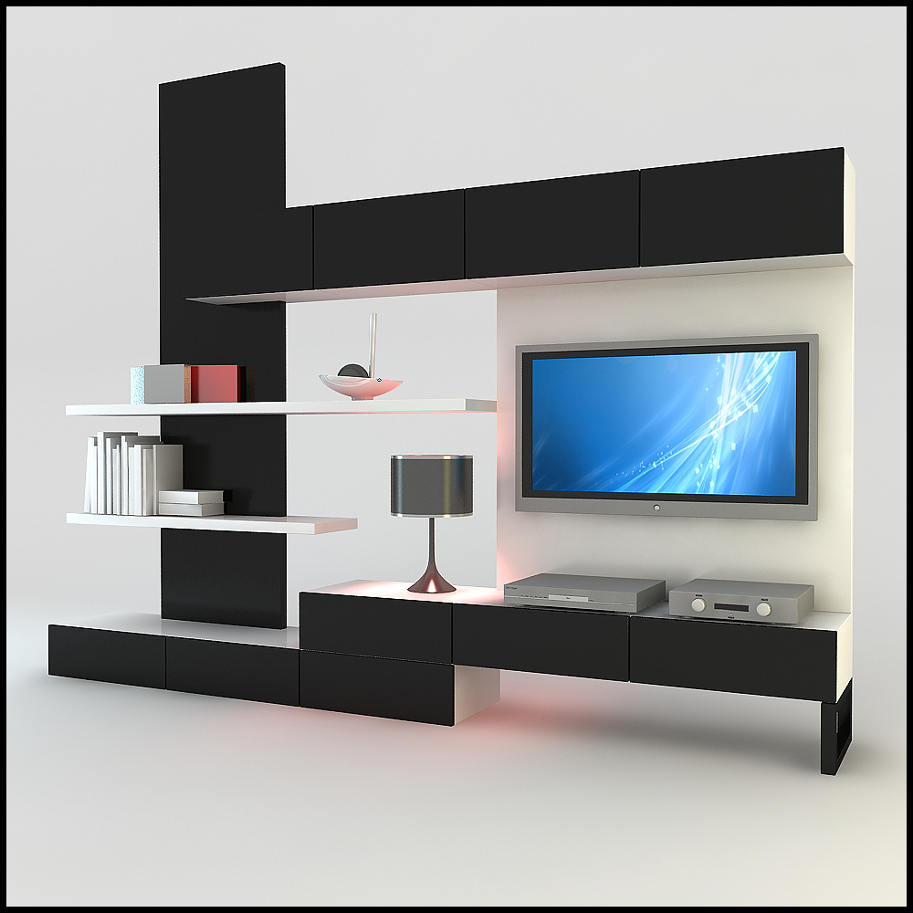 Hints for modern and stylish tv wall units for Simple lcd wall unit designs