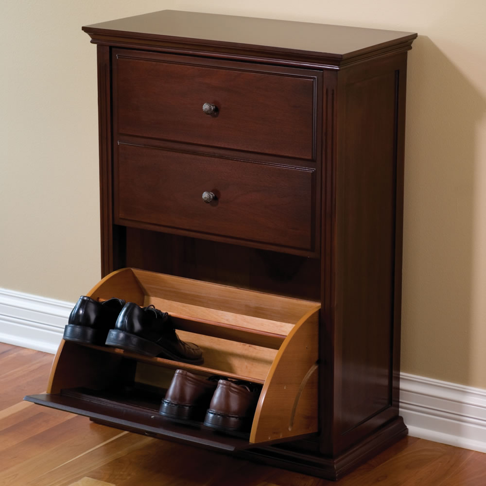 The Hideaway Shoe Cabinet - Hammacher Schlemmer