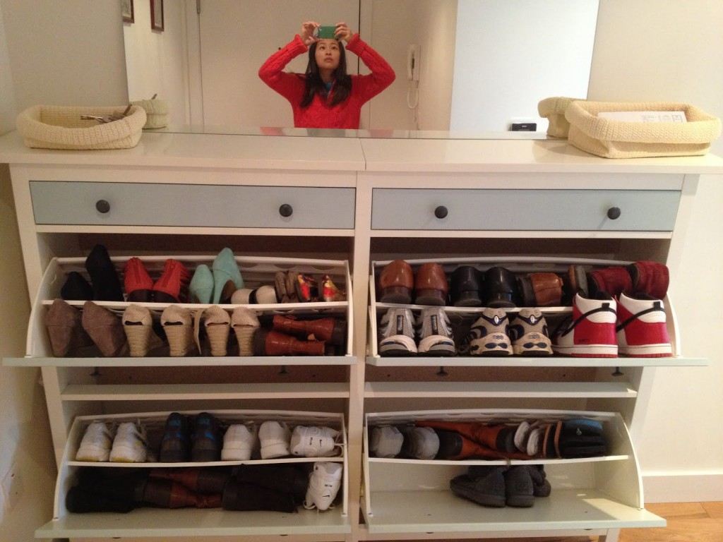 Wedded Hemnes Shoe Cabinets [Twined and Painted] - IKEA